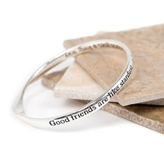 Silver plated message bangle - Stardust -- Read more at the image link. #beautifuljewelry