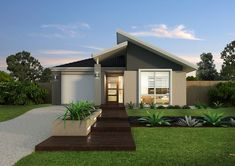 All Time Modern House Designs – My Life Spot Modern Small House Design, Modern House Plans, Facade House, House Roof, House Facades, Style At Home, Mid Century Exterior, Front Door Design, Modern Farmhouse Exterior