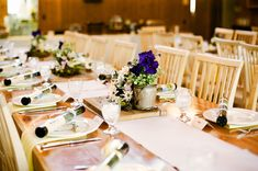 Rustic Reception Table With Wildflowers 1