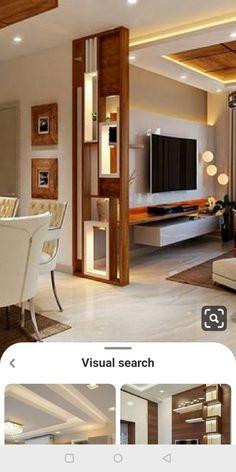 Living Room Partition Design, Pooja Room Door Design, Room Partition Designs, Ceiling Design Living Room, Home Room Design, Living Room Designs, Classy Living Room, Big Living Rooms, Living Room Bench