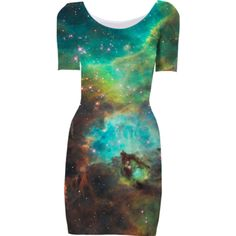Green Galaxy Short Sleeved Bodycon Dress - Available Here: http://printallover.me/collections/sondersky/products/0000000p-green-galaxy-4