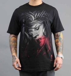 BROKEN TEE by Sullen Clothing: This 100% cotton men's black t-shirt is available in sizes medium - 3XL. The artwork featured on it was designed by a Sullen Art Collective member. Retail Price: $23.99