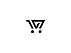 V+shopping cart logo idea
