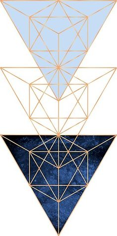 'Geometric Triangles in Blue and Rose Gold' Poster by UrbanEpiphany Rose Gold Wallpaper, Geometric Wallpaper, Geometric Background, Geometric Shapes, Cute Patterns Wallpaper, Cute Wallpaper Backgrounds, Cute Wallpapers, Iphone Wallpaper, Image Fun