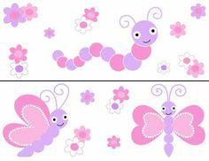 Butterfly Ladybug Wall Border Decals Nursery Baby Girl Kids Room Stickers Decor | eBay