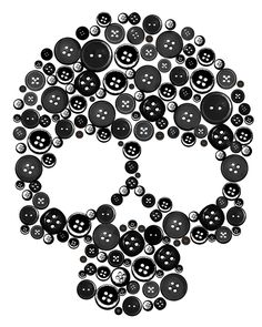 skull buttons. Need to do this on a pillow