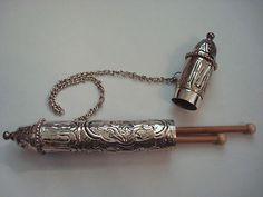 Antique Embossed Silver Knitting Needle Holder