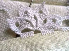 Ideas knitting stitches lace tricot for 2019 Crochet Lace Edging, Crochet Motifs, Crochet Borders, Thread Crochet, Crochet Trim, Love Crochet, Lace Knitting, Irish Crochet, Beautiful Crochet