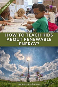 Renewable Energy For Kids, Solar Energy, Solar Power, Teaching Activities, Teaching Kids, Activities For Kids, Science Tutor, Geothermal Energy, Green School