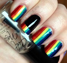 I cant help but think of Dark Side. Love this. Nail Polish Wars: My Fave 15 Nail Art Designs of 2012