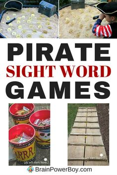 Arr! Get these free pirate sight word games for your pirate fan. Your beginning reader will thank you!