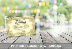 Harry Potter invitation Ticket Hogwarts invitation Train