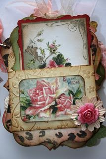 Shabby Beautiful Scrapbooking: Shabby Pink Roses mini scrapbook album