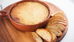 Baked Goat Cheese Dip with Homemade Crostini | Good Chef Bad Chef Dip Recipes, Cooking Recipes, Baked Goat Cheese, Garlic Chives, Best Chef, Appetisers, Dips, Stuffed Peppers, Homemade