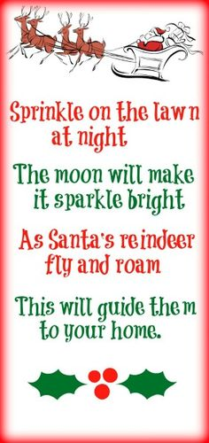... reindeer dust on Pinterest | Reindeer Food, Reindeer Dust and Reindeer