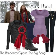 """""""Amy Pond - The Pandorica Opens, The Big Bang"""" by ansleyclaire on Polyvore"""