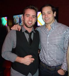 Stephan Harman and Rob McDonald ringing in the new year at Kaze