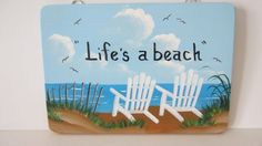 Beach Chair Wood Sign by EverythingPainted on Etsy, $12.00