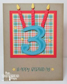Our Daily Bread Designs Stamp Set Today And Everyday Custom Dies Birthday Candles Large Numbers Sparkling Stars Pierced Squares Paper Collection