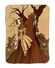 Jane Eyre by Abigail Larson Jane Eyre Book, Jane Austen, Abigail Larson, 7 Arts, Bronte Sisters, Fanart, Classic Literature, Classic Books, Gothic Art