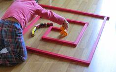 Listones rojos Montessori - fabricación casera