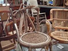 DIY wicker weaving info - great for upcycling broken chairs