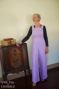 Handmade linen jumper. New fabric, vintage pattern. Sharon Mansfield - The Tin Thimble.