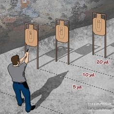 The 15 in 10 Drill trains shooters to engage multiple targets at varying distances. Try it out at your next skill-building session at the range.