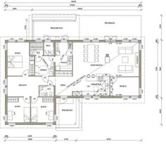 L-16104/ 145 m² Future House, My House, House Plans, Floor Plans, Cabin, Windows, Flooring, How To Plan, Deco