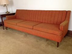 1950's Orange Sofa by Flexsteel.