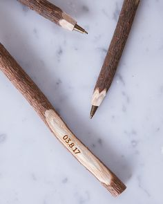 Engraved Twig Ballpoint Pen by Clouds and Currents, the perfect gift for Explore more unique gifts in our curated marketplace. Rustic Place Cards, 5th Wedding Anniversary Gift, Wedding Favours, Ballpoint Pen, Save The Date, Unique Gifts, Make It Yourself, Ink, Etsy