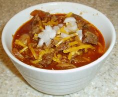 Weight Watchers Chili recipe – It says 7 points, but that's probably the old points system.  Need to run it through the recipe builder for points plus.