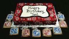 Western Bandana themed Cake
