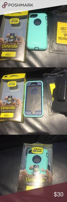 Otterbox defender oem case for iPhone 7 Otterbox defender series case for iPhone 7, brand new, aqua/blazer blue, in retail box OtterBox Accessories Phone Cases
