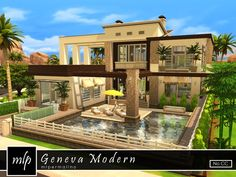 Geneva Modern house by mlpermalino at TSR via Sims 4 Updates