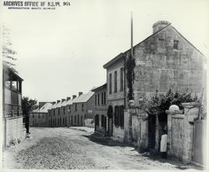 Cumberland Street, The Rocks, 1901 State Records The Rocks Sydney, Gloucester Street, Train Tunnel, Sydney City, Darling Harbour, Historical Images, Old Photos, Past, Old Things