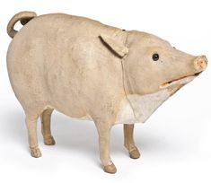 Pig, France, late 19th century (checking this out to make sure its clay - still not sure marked - France, late 19th century - it's a toy but would translate well into claya)
