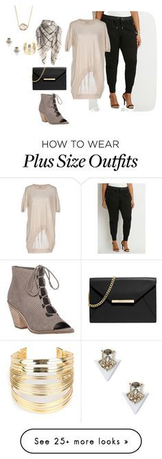 """""""plus size simple and chic friday night out"""" by kristie-payne on Polyvore featuring Eileen Fisher, Forever 21, Tua Nua, MICHAEL Michael Kors, Sole Society, Jules Smith, WithChic, women's clothing, women and female"""