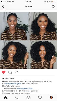 Jamaican Bounce Wig Styles, Curly Hair Styles, Natural Hair Styles, Jamaican Bounce Crochet, Half Wigs, Queen Hair, African Hairstyles, Crochet Braids, Protective Styles