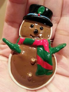 Vintage HOLIDAY CHRISTMAS PINS BROOCHES gingerbread snowman with scarf and hat in Collectibles, Holiday & Seasonal, Christmas: Current (1991-Now) | eBay