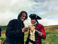Here is a NEW BTS Pic of Sam Heughan and David Berry SOURCE