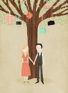 Illustrated wedding invitation ideas (Marloes de Vries)