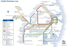 Sydney trains map - CityRail