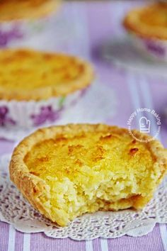 Happy Home Baking: Coconut Tarts 椰丝塔