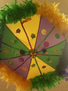 14 Mardi Gras second line Umbrella by HollieesCreations on Etsy, $40.00