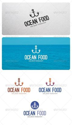 Ocean Food Logo I really like the way designer mixed a shape of carb and naval logo! It's very clever and matches with the text, 'ocean food'. I love the alternation of colors, too.