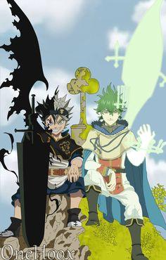 Black Clover-Asta Black Form And Yuno Spirit Dive by OneHoox on DeviantArt Anime Naruto, Anime Echii, Anime Life, Anime Demon, Anime Comics, Anime Guys, Dark Fantasy, Film Manga, Black Clover Manga