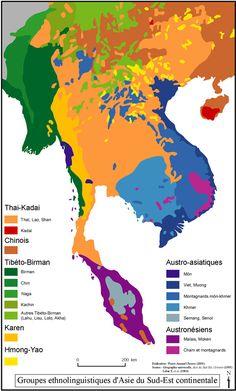 Groupes ethnolinguistiques d'Asie du Sud-Est continentale - C'est dans le triangle d'or que les 1ers théiers trouvent leur origine