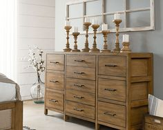 Architectural Scaffold Dresser - Magnolia Home    *Master Bedroom