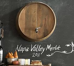 Wine Barrel Wall-Mounted Drink Dispenser #potterybarn